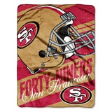 "San Francisco 49ers NFL ""Deep Slant"" Micro Raschel Throw"