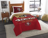 "San Francisco 49ers NFL ""Draft"" Twin Comforter Set"