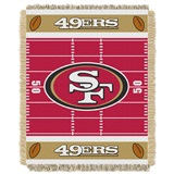 "San Francisco 49ers NFL ""Field"" Baby Woven Jacquard Throw"