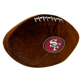 San Francisco 49ers NFL  Football Shaped 3D Plush Pillow