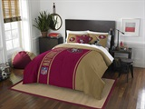 San Francisco 49ers NFL Full Applique Comforter Set
