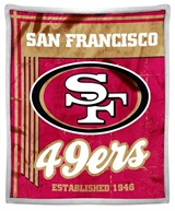 "San Francisco 49ers NFL ""Old School"" Mink Sherpa Throw"