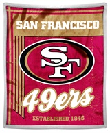 "San Francisco 49ers NFL ""Old School"" Mink with Sherpa Throw"