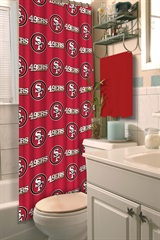 San Francisco 49ers NFL Shower Curtain