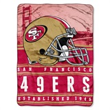 "San Francisco 49ers NFL ""Stacked"" Silk Touch Raschel Throw"