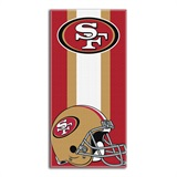 San Francisco 49ers Zone Read Beach Towel