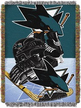 "San Jose Sharks NHL ""Home Ice Advantage"" Woven Tapestry Throw"