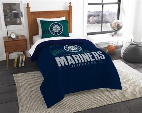 Seattle Mariners MLB Grand Slam Twin Comforter Set