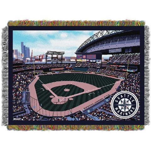 Seattle Mariners MLB Safeco Field Stadium Tapestry Throw