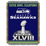 "Seattle Seahawks ""Commemorative"" Woven Tapestry Throw"