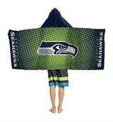 "Seattle Seahawks ""Dots"" Youth Hooded Towel"