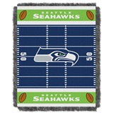 "Seattle Seahawks ""Field"" Baby Woven Jacquard Throw"