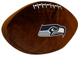 Seattle Seahawks Football Shaped 3D Pillow