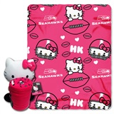 Seattle Seahawks Hello Kitty Hugger and Fleece Throw Set