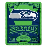 "Seattle Seahawks ""Marquee"" Fleece Throw"