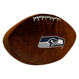 Seattle Seahawks NFL  Football Shaped 3D Plush Pillow