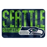 "Seattle Seahawks NFL ""Worn Out"" Bath Mat"