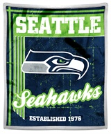 "Seattle Seahawks ""Old School"" Mink with Sherpa Throw"