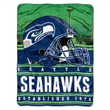 "Seattle Seahawks ""Stacked"" Silk Touch Raschel Throw"