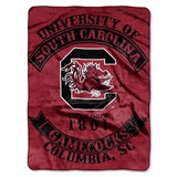 "South Carolina ""Rebel"" Raschel Throw"