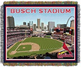 "St. Louis Cardinals MLB ""Busch Stadium"" Stadium Tapestry Throw"