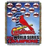 "St. Louis Cardinals MLB ""Commemorative Woven Tapestry Throw"