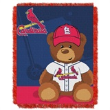 "St. Louis Cardinals MLB ""Field Bear"" Baby Woven Jacquard Throw"
