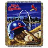 "St. Louis Cardinals MLB ""Home Field Advantage"" Woven Tapestry Throw"