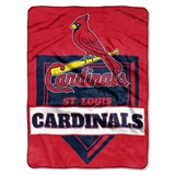 "St. Louis Cardinals MLB ""Home Plate"" Raschel Throw"