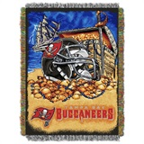 "Tampa Bay Buccaneers NFL ""Home Field Advantage"" Woven Tapestry Throw"