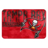 "Tampa Bay Buccaneers NFL ""Worn Out"" Bath Mat"