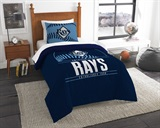 "Tampa Bay Rays MLB ""Grand Slam"" Twin Comforter Set"