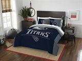 "Tennessee Titans NFL ""Draft"" Full/Queen Comforter Set"