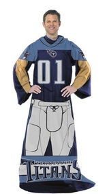 "Tennessee Titans NFL ""Uniform"" Adult Comfy Throw"