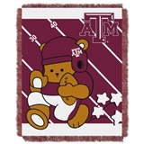 "Texas A & M  Aggies NCAA ""Fullback"" Baby Woven Jacquard Throw"