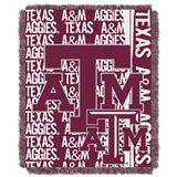 "Texas A&M ""Double Play"" Woven Jacquard Throw"