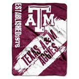 "Texas A&M ""Painted"" Fleece Throw"