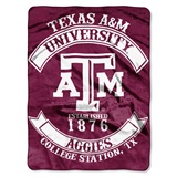 "Texas A&M ""Rebel"" Raschel Throw"