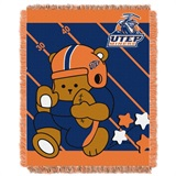 "Texas El Paso  Miners NCAA ""Fullback"" Baby Woven Jacquard Throw"