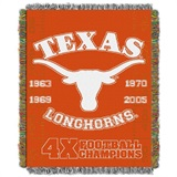 Texas Longhorns NCAA Commemorative Woven Tapestry Throw