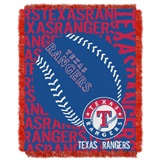 "Texas Rangers MLB ""Double Play"" Woven Jacquard Throw"