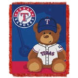 "Texas Rangers MLB ""Field Bear"" Baby Woven Jacquard Throw"