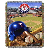 "Texas Rangers MLB ""Home Field Advantage"" Woven Tapestry Throw"