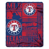 "Texas Rangers MLB ""Strength"" Fleece Throw"