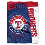 "Texas Rangers MLB ""Strike"" Raschel Throw"