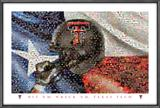 Texas Tech Red Raiders Flag and Helmet Mosaics