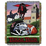 "Texas Tech Red Raiders ""Home Field Advantage"" Woven Tapestry Throw"