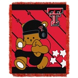 "Texas Tech  Red Raiders NCAA ""Fullback"" Baby Woven Jacquard Throw"