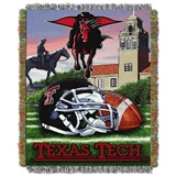 "Texas Tech Red Raiders NCAA ""Home Field Advantage"" Woven Tapestry Thro"
