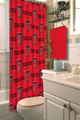Texas Tech Red Raiders NCAA Shower Curtain